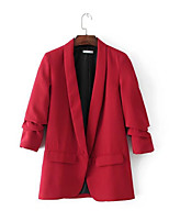 cheap -Women's Simple / Basic Blazer - Solid Colored