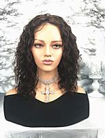 Недорогие -Remy Парик Бразильские волосы / Волнистые Волнистый 130% плотность Средняя длина Жен. Парики из натуральных волос на кружевной основе