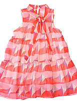 cheap -Kids Girls' Patchwork Sleeveless Dress