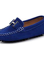 Недорогие -Мальчики Обувь Кожа Весна & осень Удобная обувь Мокасины и Свитер для Черный / Коричневый / Тёмно-синий