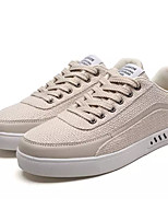 cheap -Men's Shoes Fabric / PU Fall Comfort Sneakers White / Black / Beige