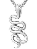 Недорогие -Муж. Ожерелья с подвесками  -  Мода Змея Золотой Серебряный 55cm Ожерелье Назначение Повседневные