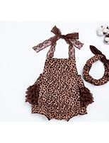 cheap -Baby Girls' Leopard Sleeveless Romper