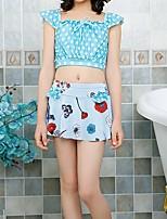 cheap -Kids Girls' Galaxy / Print / Color Block Short sleeves Swimwear