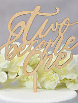cheap -Cake Topper Classic Theme / Wedding Cut Out Wooden / Bamboo Wedding / Birthday with Sided Hollow Out 1pcs OPP