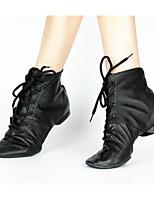 cheap -Women's Jazz Shoes PU Sneaker Performance / Practice Low Heel Dance Shoes Black