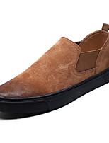 Недорогие -Муж. обувь Свиная кожа Весна Осень Удобная обувь Мокасины и Свитер для Повседневные Черный Серый Коричневый