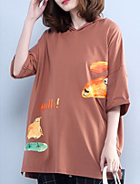 cheap -Women's Cotton Loose T-shirt - Animal