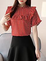 abordables -Mujer Básico Estampado Blusa A Lunares