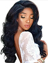 cheap -Remy Human Hair Lace Front Wig Brazilian Hair Wavy 130% Density Long Women's Human Hair Lace Wig