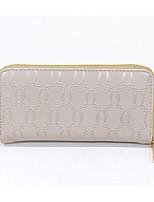 cheap -Women's Bags PU Wallet Zipper Blushing Pink / Beige / Fuchsia