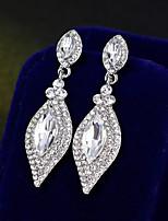 cheap -Women's Drop Earrings - Simple, European, Fashion Silver For Wedding / Daily