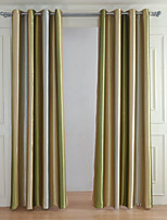 cheap -Blackout Curtains Drapes Living Room Stripe 100% Polyester Yarn Dyed