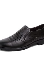 Недорогие -Муж. обувь Кожа Весна Лето Формальная обувь Удобная обувь Мокасины и Свитер для Повседневные Черный Темно-коричневый