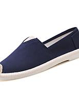 Недорогие -Муж. обувь Полиуретан Осень Светодиодные подошвы Мокасины и Свитер Белый Черный Синий