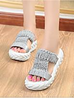 Недорогие -Жен. Обувь Ткань Хлопок Весна Удобная обувь Тапочки и Шлепанцы Платформа для Повседневные Белый Черный Серый Пурпурный