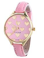 preiswerte -Xu™ Damen Quartz Armbanduhr Chinesisch Armbanduhren für den Alltag PU Band Heart Shape Kreativ Schwarz Weiß Rosa
