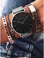 abordables -Femme Montre Bracelet Japonais Chronographe / Etanche / Grand Cadran Alliage Bande Luxe / Mode Noir / Argent / Doré