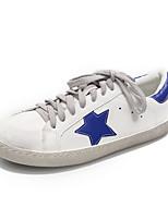 Недорогие -Жен. Обувь Полотно Весна лето Удобная обувь Кеды На плоской подошве Серебряный / Синий