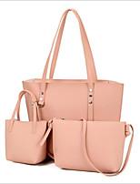 cheap -Women's Bags PU Bag Set 3 Pcs Purse Set Rivet for Event / Party / Shopping Light Gray / Brown / Dark Grey