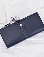 cheap -Women's Bags PU Wallet Buttons Red / Brown / Gray Green
