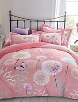 cheap -Duvet Cover Sets Floral Polyester / Polyamide Reactive Print 4 Piece