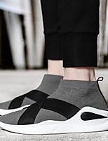 Недорогие -Муж. обувь Трикотаж Осень Удобная обувь Мокасины и Свитер для на открытом воздухе Черный Серый Красный