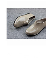 Недорогие -Жен. Обувь КожаПВХ Лето Резиновые сапоги Ботинки На плоской подошве Хаки / Вино