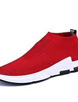 cheap -Men's Shoes Knit / Mesh Summer Comfort / Light Soles Sneakers Black / Gray / Red
