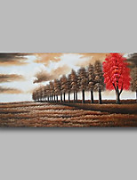 cheap -Oil Painting Hand Painted - Abstract / Landscape Comtemporary / Modern Canvas