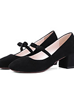 cheap -Women's Shoes Nubuck leather Spring / Fall Comfort / Basic Pump Heels Chunky Heel Black / Gray / Almond