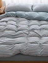cheap -Duvet Cover Sets Stripes / Ripples Poly / Cotton Reactive Print 4 Piece
