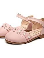 cheap -Girls' Shoes Leatherette Spring & Fall First Walkers / Flower Girl Shoes Flats Magic Tape for Baby Beige / Pink / Party & Evening