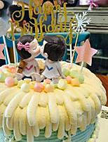 Недорогие -Украшения для торта Свадьба / День рождения Романтика ABS смолы Свадьба / День рождения с Цветовые блоки 1pcs Пенополиуретан