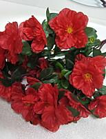 abordables -Fleurs artificielles 1 Une succursale Rustique Cerisier du Japon Fleur de Table