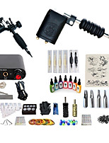 cheap -BaseKey Tattoo Machine Starter Kit - 2 pcs Tattoo Machines with 7 x 15 ml tattoo inks, Professional, Kits Alloy Mini power supply Case Not Included 20 W 2 rotary machine liner & shader