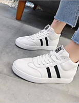 cheap -Women's Shoes Leather Spring Comfort Sneakers Flat Heel for White
