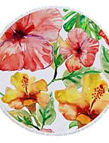 abordables -Qualité supérieure Drap de plage, Floral / Botanique / Motif Polyester / Coton 1 pcs