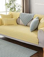abordables -Housse de canapé Couleur Pleine Imprimé Polyester / Coton Literie