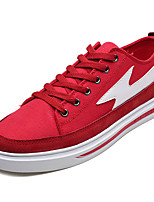 cheap -Men's Shoes Canvas / Fabric Fall Comfort Sneakers Black / Red / Black / White