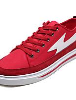 economico -Per uomo Scarpe Di corda / Tessuto Autunno Comoda Sneakers Nero / Rosso / Bianco / nero