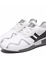 cheap -Men's Shoes Tulle Spring / Fall Comfort Sneakers Black / Black / White / White / Green
