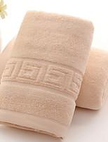 abordables -Qualité supérieure Serviette, Couleur Pleine / Géométrique Polyester / Coton / 100% Coton 1 pcs