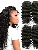 cheap -4 Bundles Malaysian Hair Deep Wave Human Hair Natural Color Hair Weaves / Hair Bulk / Bundle Hair / One Pack Solution 8-28 inch Natural Color Human Hair Weaves Extention / Best Quality / Hot Sale