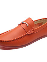Недорогие -Муж. обувь Искусственное волокно Весна / Осень Мокасины Мокасины и Свитер Белый / Черный / Коричневый