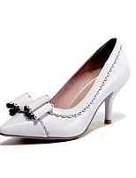 cheap -Women's Shoes Leatherette Spring & Summer Basic Pump Heels Stiletto Heel Pointed Toe Bowknot White / Black / Green / Party & Evening
