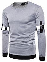 cheap -Men's Basic / Street chic Sweatshirt - Solid Colored