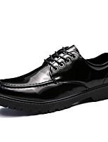 Недорогие -Муж. обувь Искусственное волокно Осень Удобная обувь Туфли на шнуровке Черный