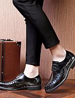 baratos -Homens sapatos Micofibra Sintética PU Verão Conforto Oxfords para Escritório e Carreira Ao ar livre Cinzento Verde Vinho
