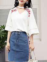 economico -T-shirt Per donna Alfabetico A V - Cotone / A V / Cotone / Alfabetico